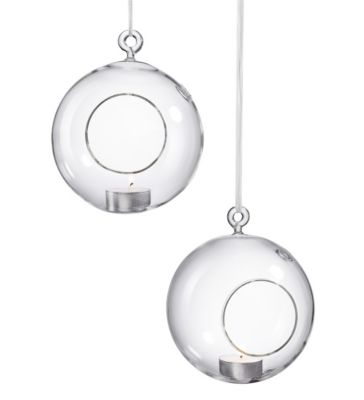 Glass Hanging Tea Light Holders