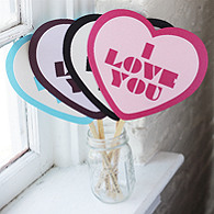 I LOVE YOU Photo Prop
