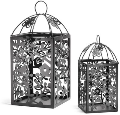 Metal Table Lantern - Black