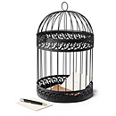 Round Birdcage Reception Card Holder