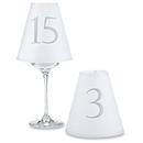 Elegant Table Number Vellum Shades