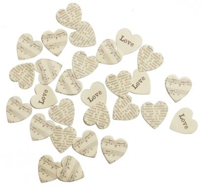 Heart Table Confetti
