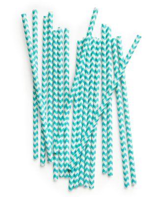 Chevron Paper Straws