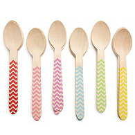 Chevron Wooden Spoon Set