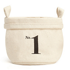 soft canvas bucket - numbers