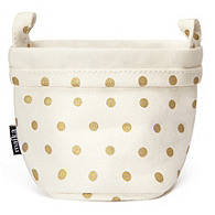 Soft Canvas Bucket - Gold Dots
