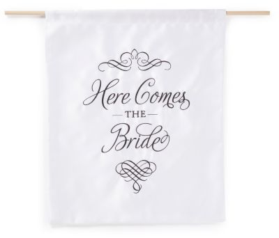 Elegant Here Comes the Bride Banner