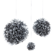 30 piece Metallic Paper Pom Pom Set