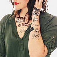 Tattly Tattoo Inspirational Set
