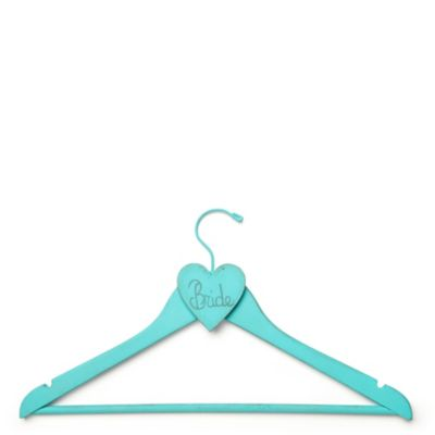 Hand-painted Bridal Gown Hanger - Turquoise