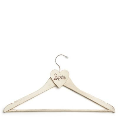 Hand-painted Bridal Gown Hanger - Cream