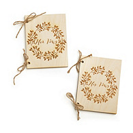 His & Hers Rustic Vow Books