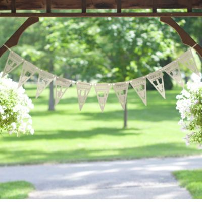 Just Married Laser-cut Pennant Banner