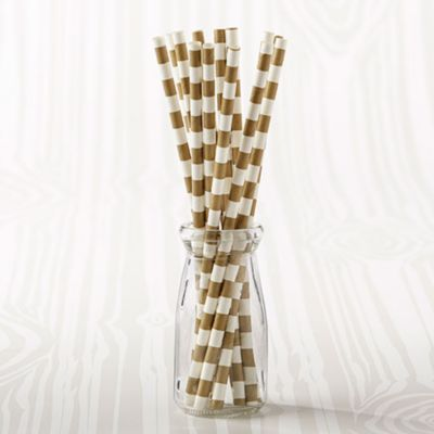 Horizontal Stripe Paper Straws