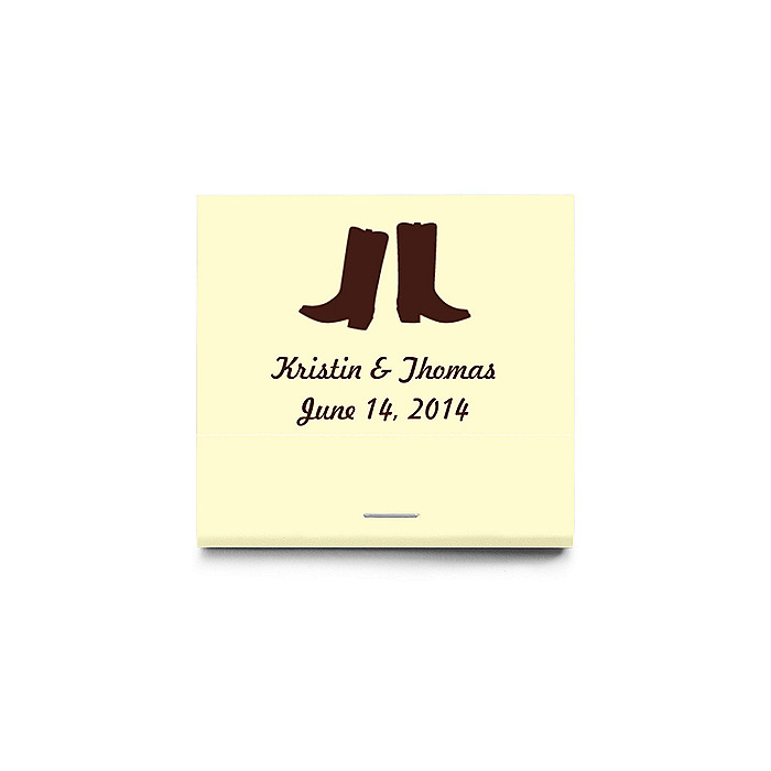 Personalized Matchbooks - Boots