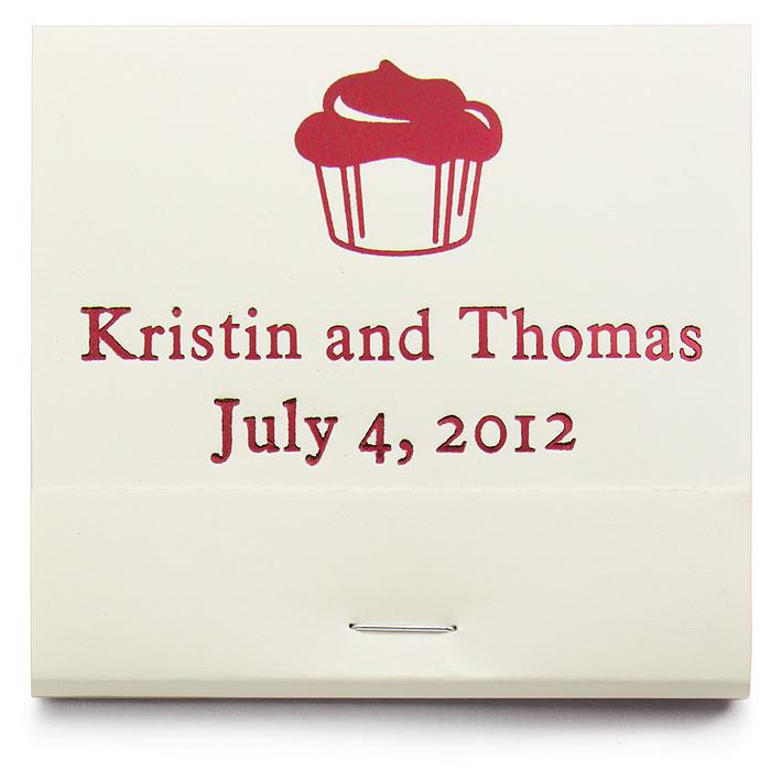 Personalized Matchbooks - Cupcake