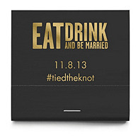 Personalized Matchbooks - Eat, Drink (Block)