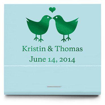 Personalized Matchbooks - Lovebirds