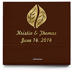 Personalized Matchbooks - Leaves