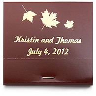 Personalized Matchbooks - Maple Leaves