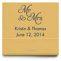 Personalized Matchbooks - Mr and Mrs