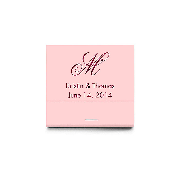 Personalized Matchbooks - Script Monogram