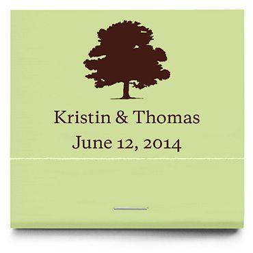 Personalized Matchbooks - Oak Tree