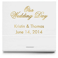Personalized Matchbooks - Our Wedding Day