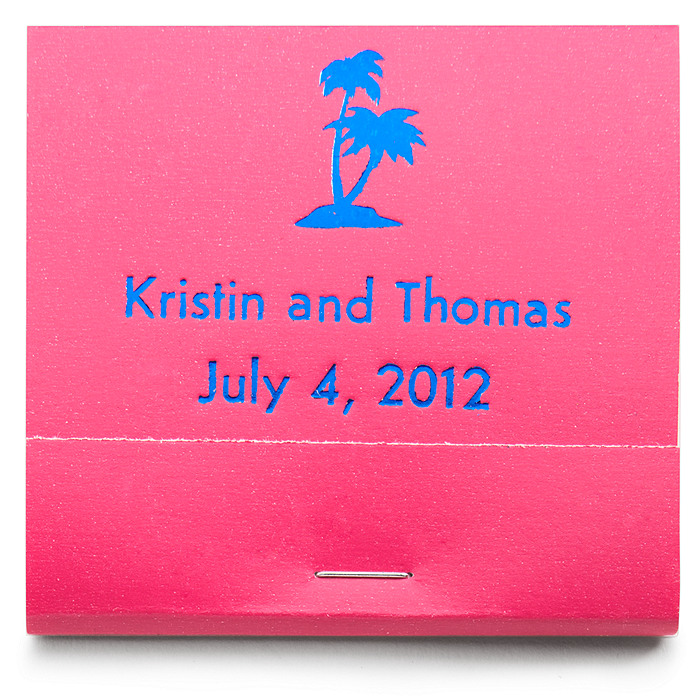Personalized Matchbooks - Palm Trees