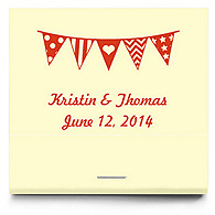 Personalized Matchbooks - Pennant Flag