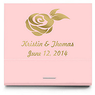 Personalized Matchbooks - Rose