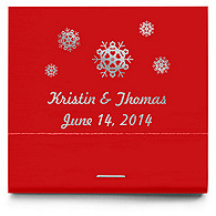 Personalized Matchbooks - Snowflakes