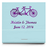 Personalized Matchbooks - Tandem Bike