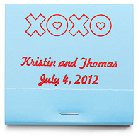 Personalized Matchbooks - XOXO
