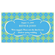 Save the Date Magnets - Argyle (Blue)