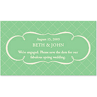 Save the Date Magnets - Argyle (Mint)
