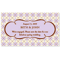 Save the Date Magnets - Argyle (Lavender)
