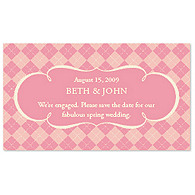 Save the Date Magnets - Argyle (Pink)