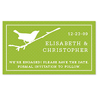 Save the Date Magnets - Bird (Grass Green)