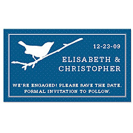 Save the Date Magnets - Bird (Navy)