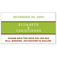 Save the Date Magnets - Brights (Green)