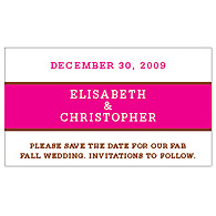 Save the Date Magnets - Brights (Hot Pink)