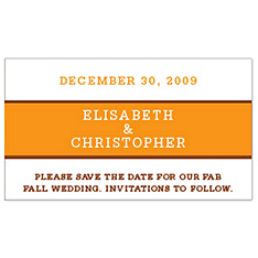Save the Date Magnets - Brights (Orange)