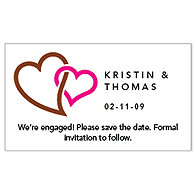Save the Date Magnets - Double Heart (Brown)
