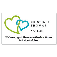 Save the Date Magnets - Double Heart (Green)