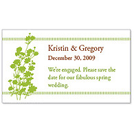 Save the Date Magnets - Foliage (Grass Green)