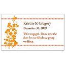 Save the Date Magnets - Foliage (Orange)