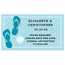 Save the Date Magnets - Flip Flops (Blue)