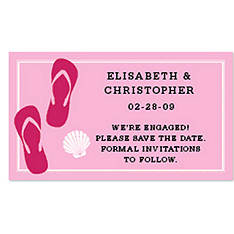 Save the Date Magnets - Flip Flops (Pink)