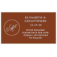 Save the Date Magnets - Initial (White/Brown)